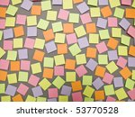 adhesive notes with different...   Shutterstock . vector #53770528