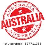 australia stamp | Shutterstock .eps vector #537711355