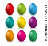 easter eggs set  collection... | Shutterstock . vector #537715795