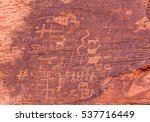 Petroglyphs On Red Rock  Valle...