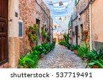 spain majorca  charming village ... | Shutterstock . vector #537719491