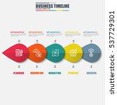 infographic timeline vector...   Shutterstock .eps vector #537729301