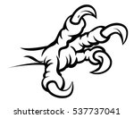 an eagle bird talon or claw... | Shutterstock .eps vector #537737041