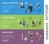recruitment hr people... | Shutterstock . vector #537737689