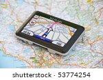 satellite navigaton system on... | Shutterstock . vector #53774254