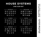 house systems line icon set... | Shutterstock .eps vector #537751711