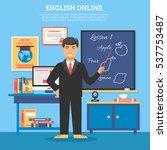 online education training... | Shutterstock . vector #537753487