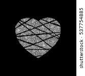 silver heart icon. golden... | Shutterstock .eps vector #537754885