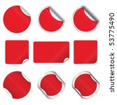 set  red stickers | Shutterstock . vector #53775490