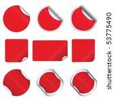 set  red stickers | Shutterstock . vector #53775490