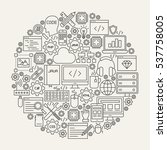 programming line icons circle....   Shutterstock .eps vector #537758005