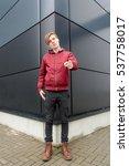 teenager boy gesticulating... | Shutterstock . vector #537758017