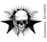 vector illustration skull in... | Shutterstock .eps vector #537760555