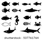 fish icons | Shutterstock .eps vector #537761764