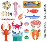 sea food vector illustration... | Shutterstock .eps vector #537768535