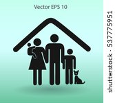 family with a pet vector... | Shutterstock .eps vector #537775951