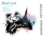travel laos design in grunge...   Shutterstock .eps vector #537777199