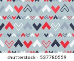 vector tribal seamless colorful ... | Shutterstock .eps vector #537780559