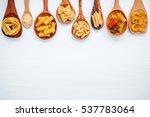 italian foods concept and menu... | Shutterstock . vector #537783064