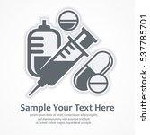 medication symbols. medical... | Shutterstock .eps vector #537785701