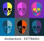 skulls set. 6 images on... | Shutterstock .eps vector #537786061