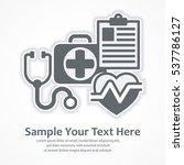 medicine diagnosis symbols.... | Shutterstock .eps vector #537786127