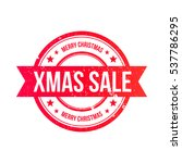 christmas sale grunge ribbon...   Shutterstock .eps vector #537786295