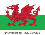 flag of wales  uk. vector format | Shutterstock .eps vector #537789331