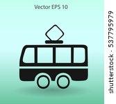 flat tram icon. vector | Shutterstock .eps vector #537795979
