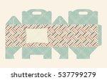 gift box pattern. template. box ... | Shutterstock .eps vector #537799279