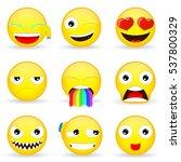 Emoji Set. Emoticon Set....