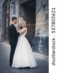 wedding. portrait of enamored... | Shutterstock . vector #537805621