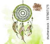 dreamcatcher. set of ornaments  ...   Shutterstock .eps vector #537807175