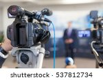 video camera in focus  blurred...   Shutterstock . vector #537812734
