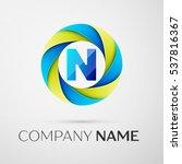 letter n vector logo symbol in... | Shutterstock .eps vector #537816367
