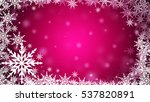 Pink Christmas Frame Abstract...