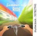 Handlebar Colored Poster With...