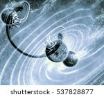 wormhole   spacetime tunnel   ... | Shutterstock . vector #537828877