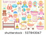 baby flat icons set.  | Shutterstock .eps vector #537843067