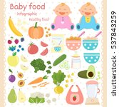 baby food icons set. infant... | Shutterstock .eps vector #537843259
