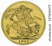 george v gold sovereign  coin... | Shutterstock . vector #537845479