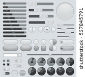 set of interface buttons. grey... | Shutterstock .eps vector #537845791