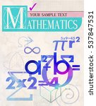 mathematics. vector cover. a... | Shutterstock .eps vector #537847531
