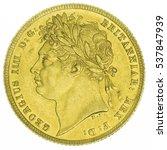 george iv 'laur. head' gold... | Shutterstock . vector #537847939