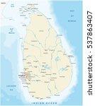 sri lanka map | Shutterstock .eps vector #537863407
