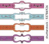 decorative blank label banner... | Shutterstock .eps vector #53786926
