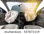 car of accident make front... | Shutterstock . vector #537872119