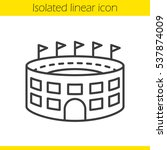 stadium building linear icon.... | Shutterstock .eps vector #537874009