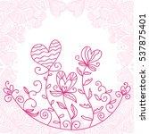 beautiful romantic background.... | Shutterstock .eps vector #537875401