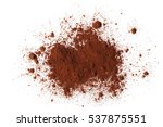 Pile Cocoa Powder Isolated On...